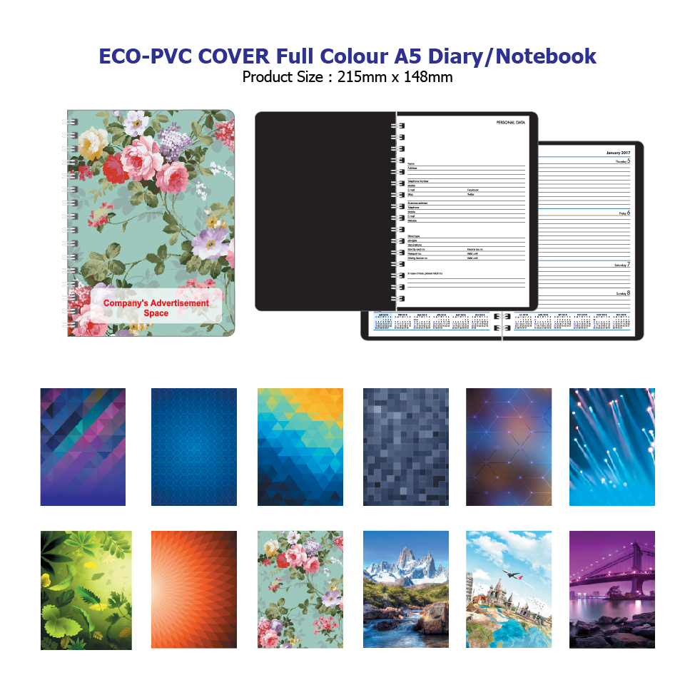 Eco-PVC Full Colour Diary