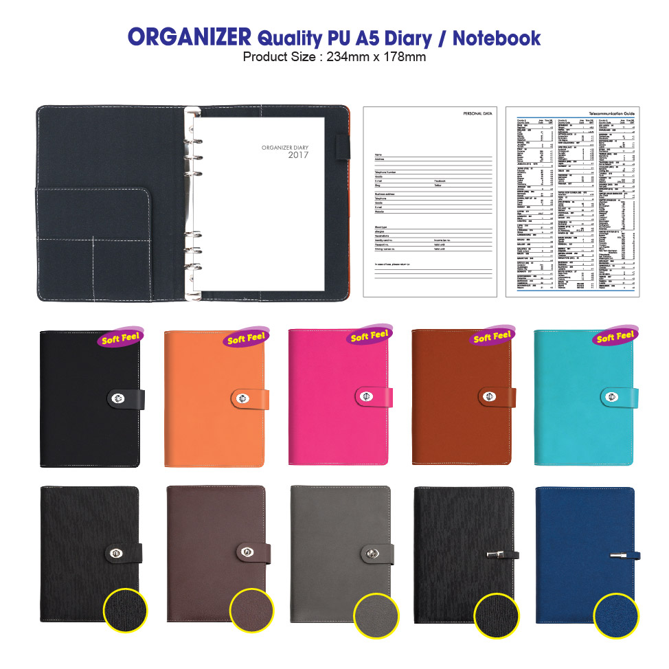 Organizer Quality PU A5 (6 Ring)